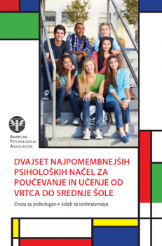 Naslovnica za Dvajset najpomembnejših psiholoških načel za poučevanje in učenje od vrtca do srednje šole