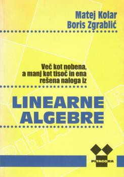 Naslovnica za Več kot nobena, a manj kot tisoč in ena rešena naloga iz linearne algebre