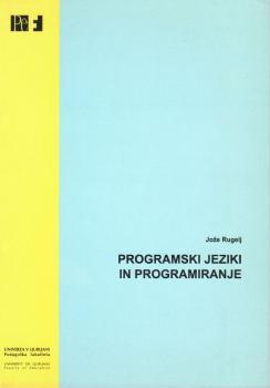 Naslovnica za Programski jeziki in programiranje